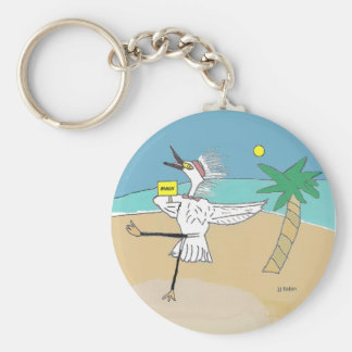 Happy Maui Visitor Basic Round Button Keychain