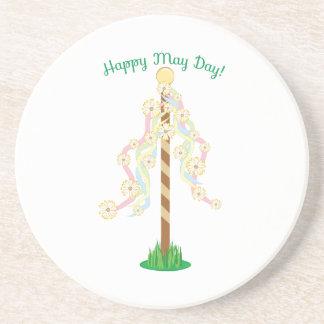 Happy May Day Coasters