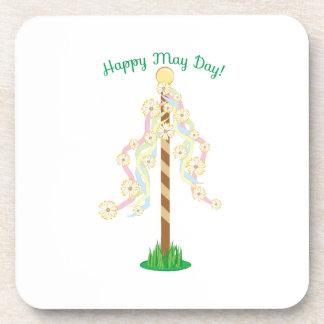 Happy May Day Beverage Coaster
