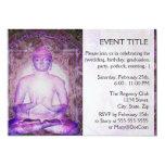 """Happy Meditating Buddha 5"""" X 7"""" Invitation Card"""