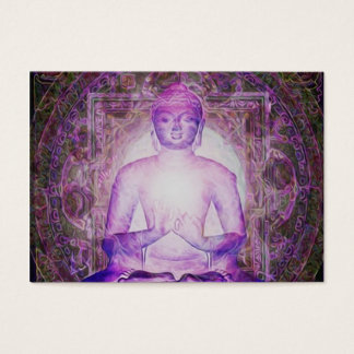 Happy Meditating Buddha Business Card