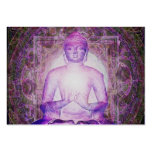 Happy Meditating Buddha Large Business Cards (Pack Of 100)