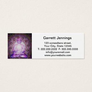 Happy Meditating Buddha Mini Business Card