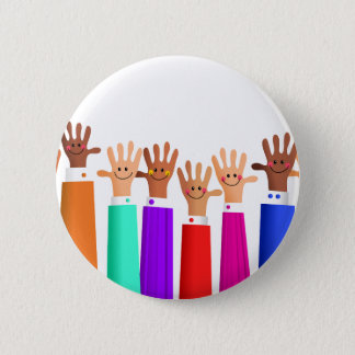 Happy Meeting Pinback Button