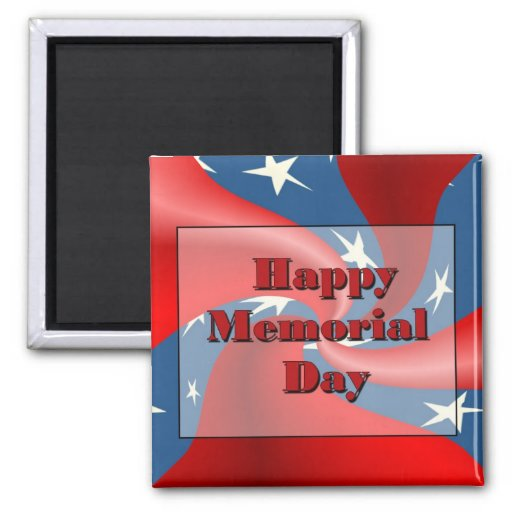 Happy Memorial Day 2 Inch Square Magnet