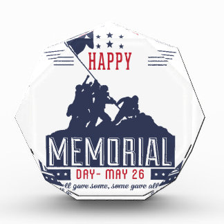 Happy Memorial Day Acrylic Award
