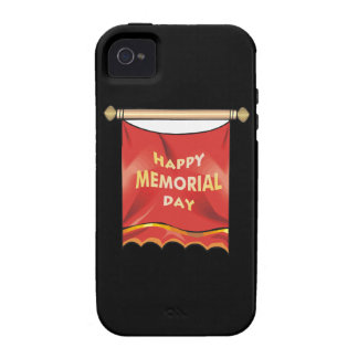 Happy Memorial Day Banner iPhone 4/4S Covers
