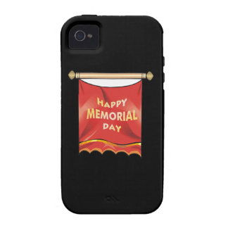 Happy Memorial Day Banner.png iPhone 4 Case