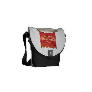 Happy Memorial Day Banner.png Courier Bags