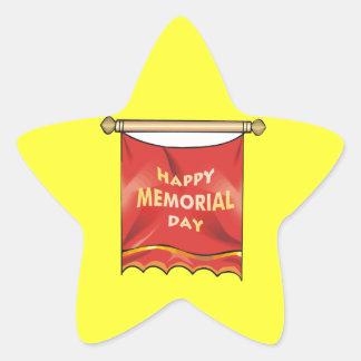 Happy Memorial Day Banner Star Sticker