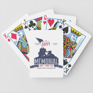 Happy Memorial Day Bicycle Playing Cards
