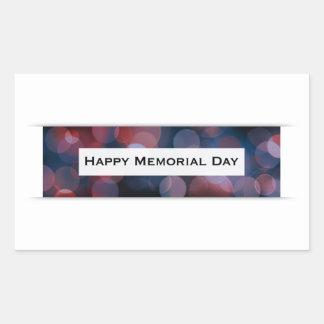 Happy Memorial Day (bokeh) Rectangular Sticker