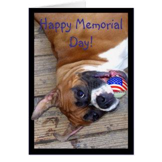 Happy Memorial Day boxer greeting card