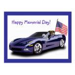 Happy Memorial day Boxer postcard