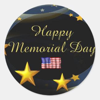 Happy Memorial Day Classic Round Sticker