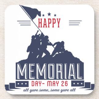Happy Memorial Day Beverage Coasters