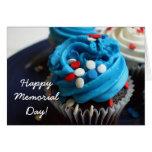 Happy Memorial day cupcakes greeting card