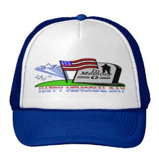 Happy Memorial Day - Flag Gravestone  Hat