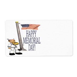 Happy Memorial Day Label