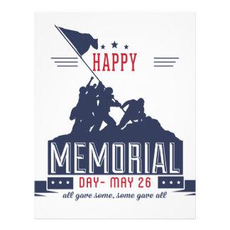 Happy Memorial Day Letterhead