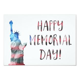 Happy Memorial Day (liberty bokeh) Card
