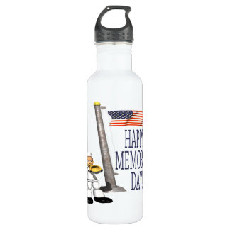 Happy Memorial Day Stainless Steel Water Bottle