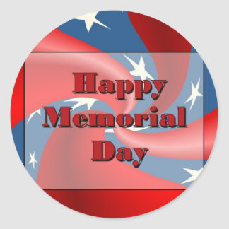 Happy Memorial Day Classic Round Sticker