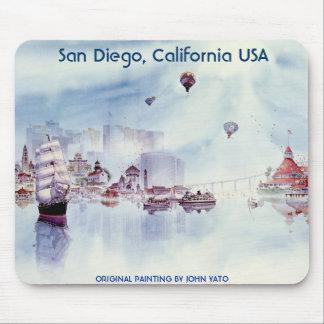 HAPPY MEMORIES, SAN DIEGO CALIFORNIA MOUSE PAD