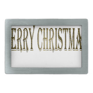 Happy Merry Christmas Rectangular Belt Buckle