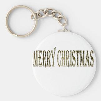 Happy Merry Christmas Keychain