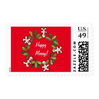 Happy Merry Christmas Stamp