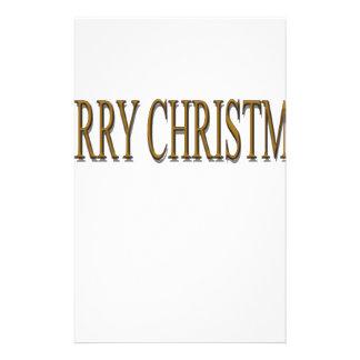 Happy Merry Christmas Custom Stationery