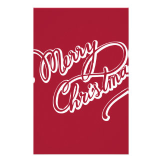 Happy Merry Christmas Personalized Stationery