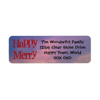 Happy Merry Return Address Labels by RoseWrites