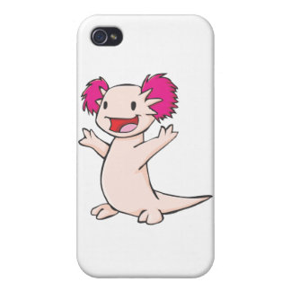 Happy Mexican Axolotl Cartoon iPhone 4/4S Cases