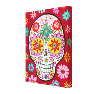 Happy Mexican Sugar Skull Canvas Print