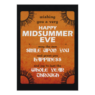 Happy Midsummer Eve Poster