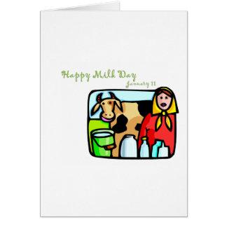 Happy Milk Day January 11 Card