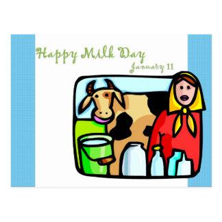 Happy Milk Day January 11 Postcard