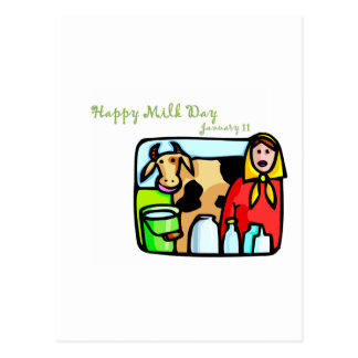 Happy Milk Day January 11 Postcards