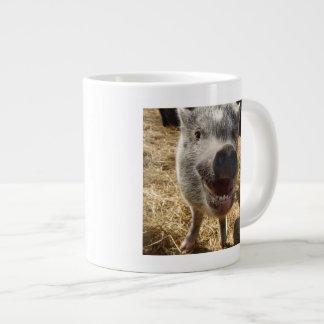 Happy Mini Pig Jumbo Mug