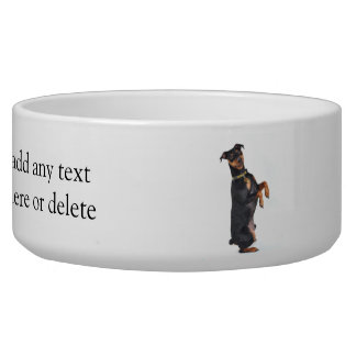 Happy Miniature Pinscher Bowl