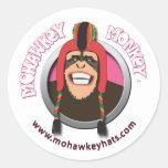 Happy Mohawkey Monkey sticker