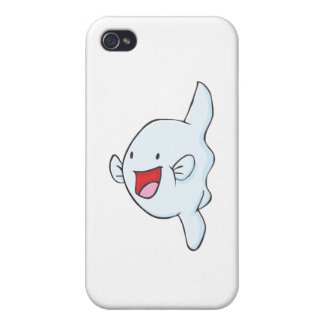 Happy Mola Fish Cartoon Case For iPhone 4