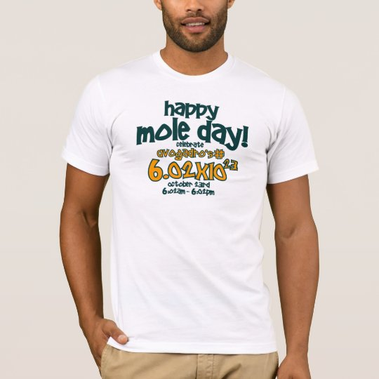 HAPPY MOLE DAY T-Shirt ! (Avogadro's Number)