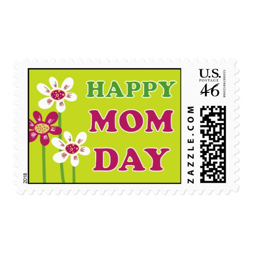 Happy Mom Day Postage Stamp