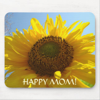 HAPPY MOM! Mouse pad SUNFLOWERS Customize Text