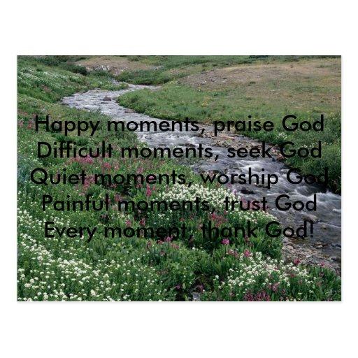 , Happy moments, praise GodDifficult momen... Postcard