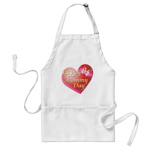 Happy Mommy Day Shirt Adult Apron