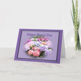 Happy Mom's Day Hydrangea card
